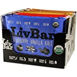 LivBar Nutrition Health Food Bars - High Protein Organic Gluten-Free Superfood (Variety Pack, 12 qty)