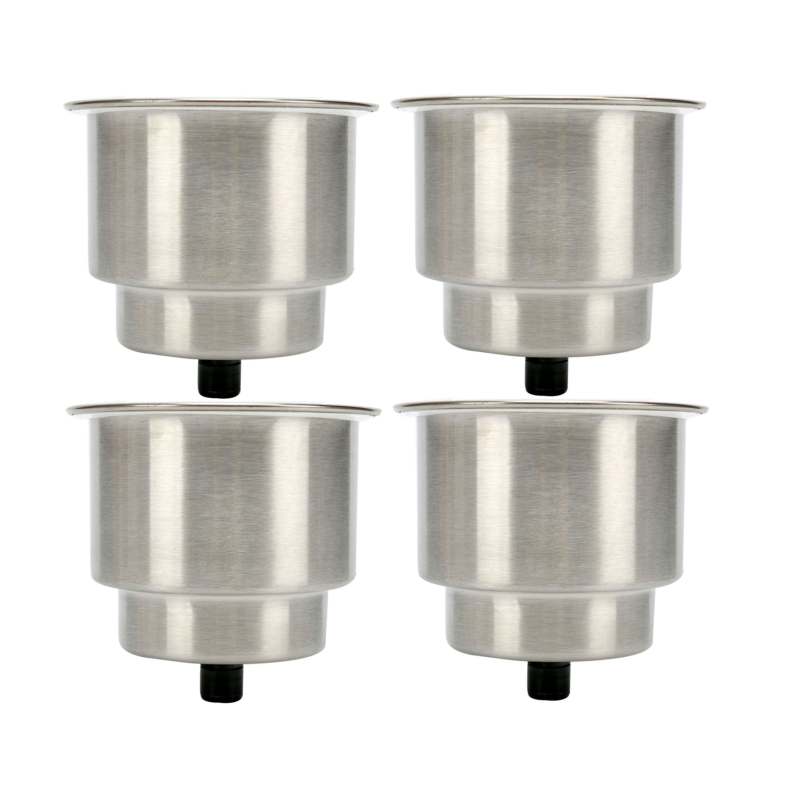 cdf212996 SeaLux 4pcs Stainless Steel Cup Drink Holder with Drain for Marine Boat RV  Camper