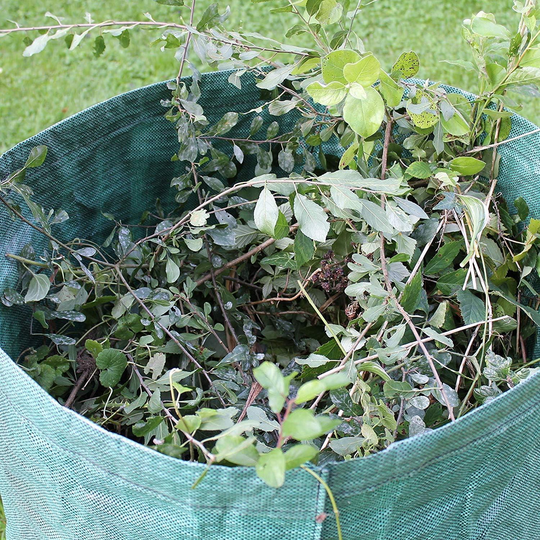Sacchetti per rifiuti da Giardino per i rifiuti da Giardino Sacchetti da Giardino Professionali Resistenti riutilizzabili Yooap 3 x 300 L Foglie di Prato