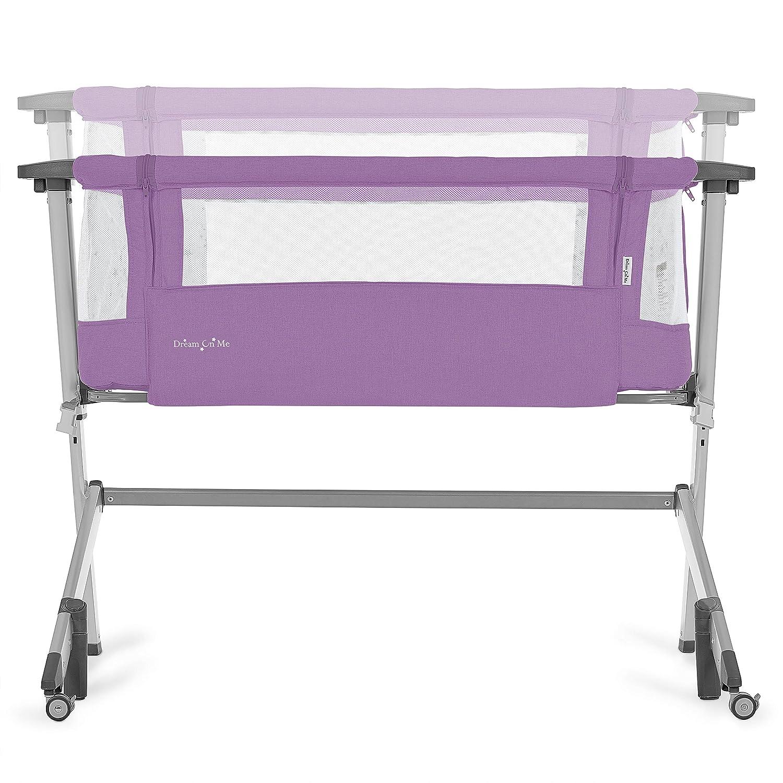 Crib Purple 21.3 Pounds Dream On Me Skylar Bassinet Bedside Sleeper