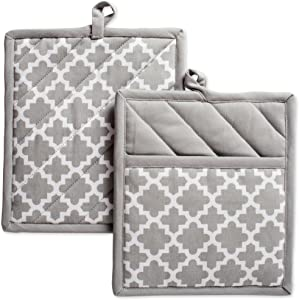 DII Cotton Lattice Pot Holders, 9 x 8