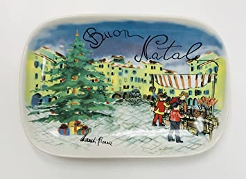 Made In Italy | Ceramisia Buon Natale Christmas Stoneware Plate | Dishwasher Microwave \u0026 Oven Safe & Made In Italy | Ceramisia Buon Natale Christmas Stoneware Plate ...