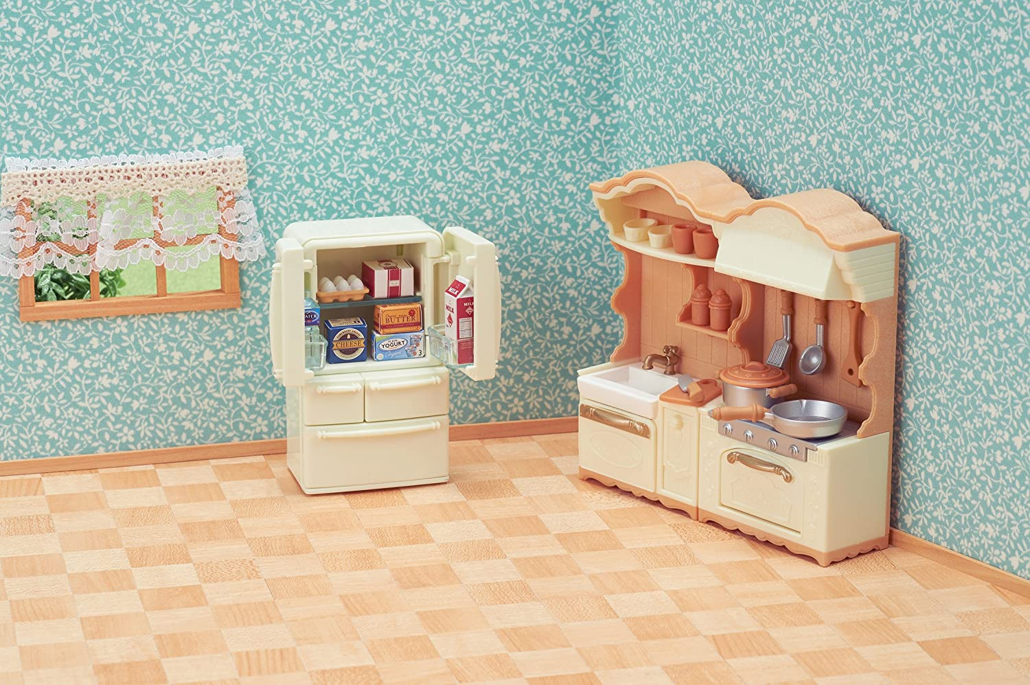 Calico Critters Kitchen Play S...