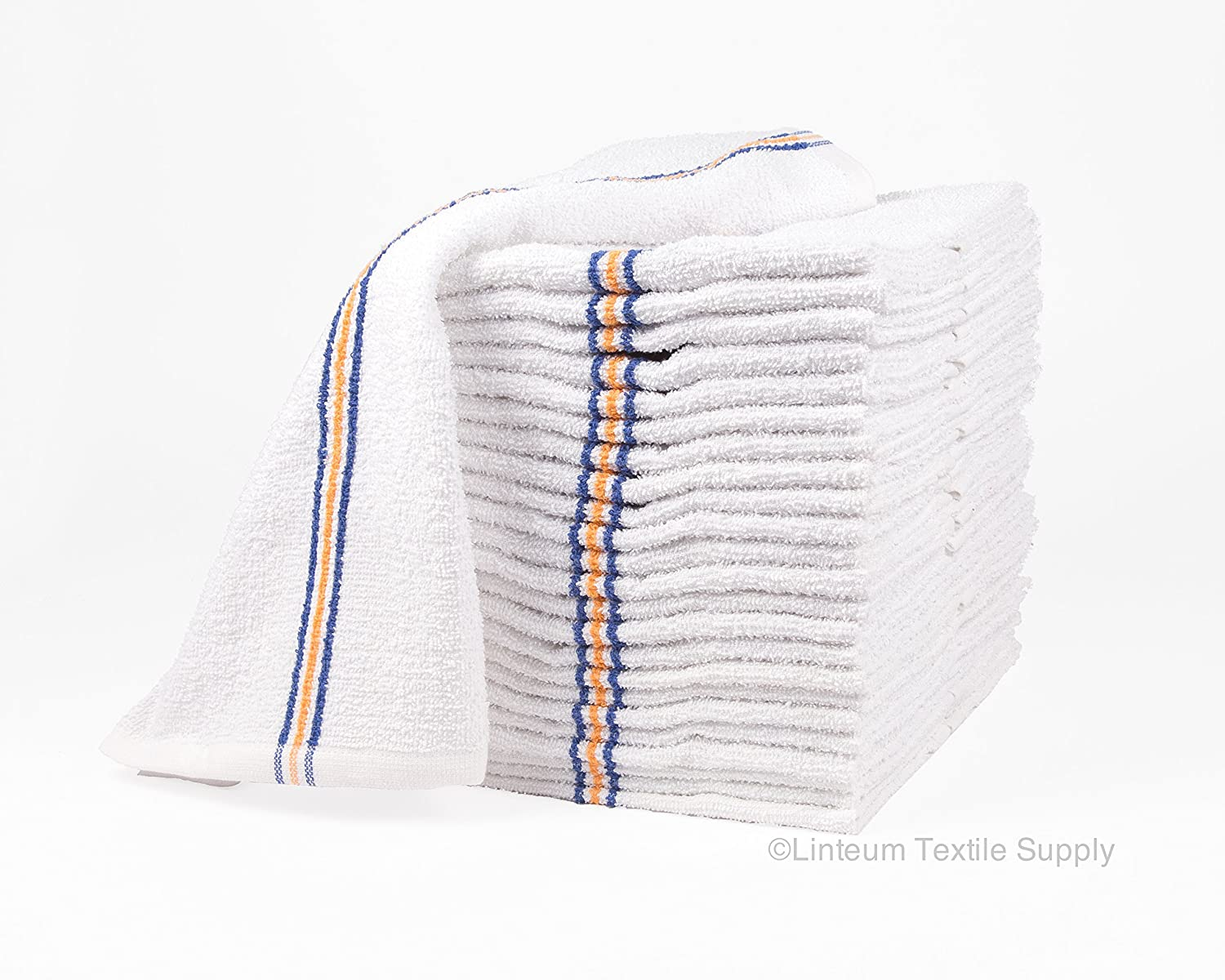 Linteum Textile (24-Pack, 16x19 in) Cotton Bar Towels SUPER MOPS Kitchen Towels, Strong & Durable