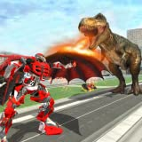 Wild Dinosaur Robot Vs Flying Dragon: Dino Games