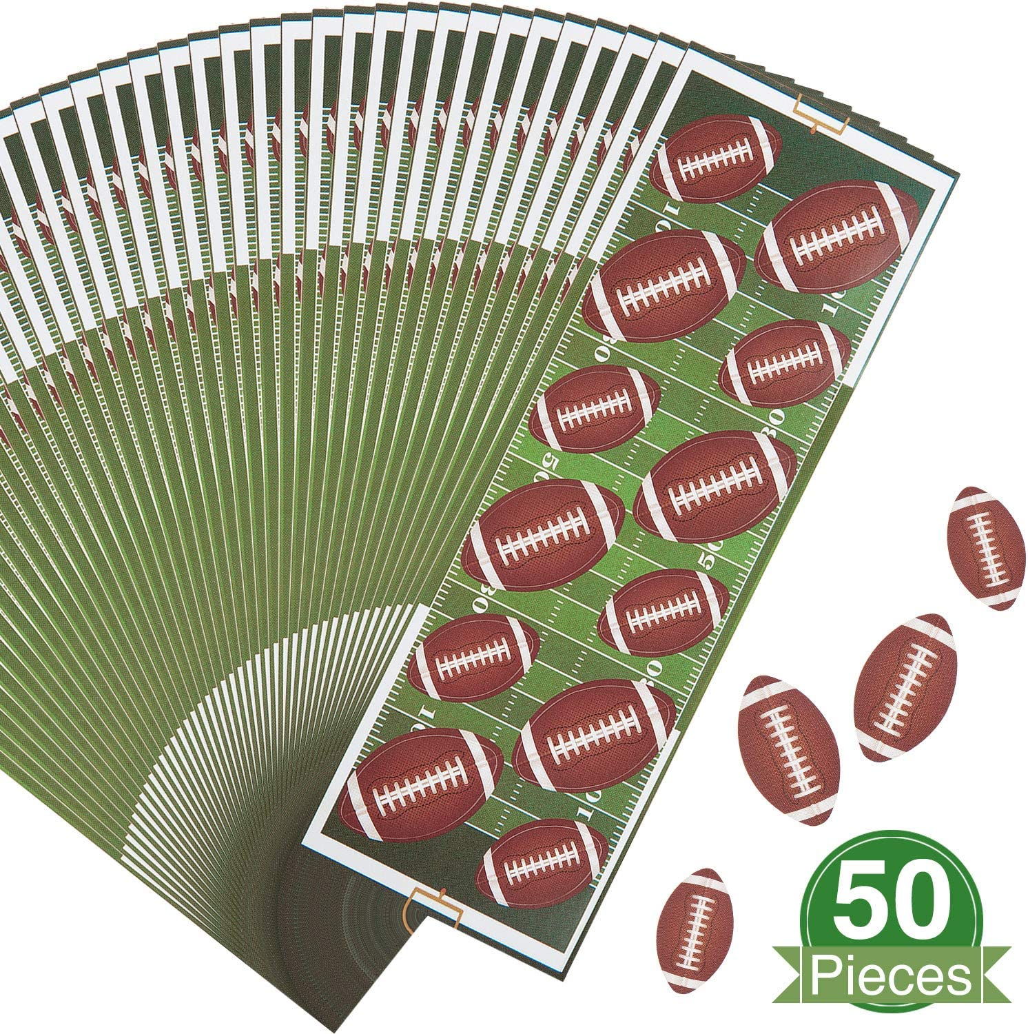 Outus 600 Pieces Self-Adhesive Football Stickers, Baseball Stickers, Soccer Stickers, Volleyball Stickers Sheet for Sport Theme Scrapbooks, Cards, DIY (Football)