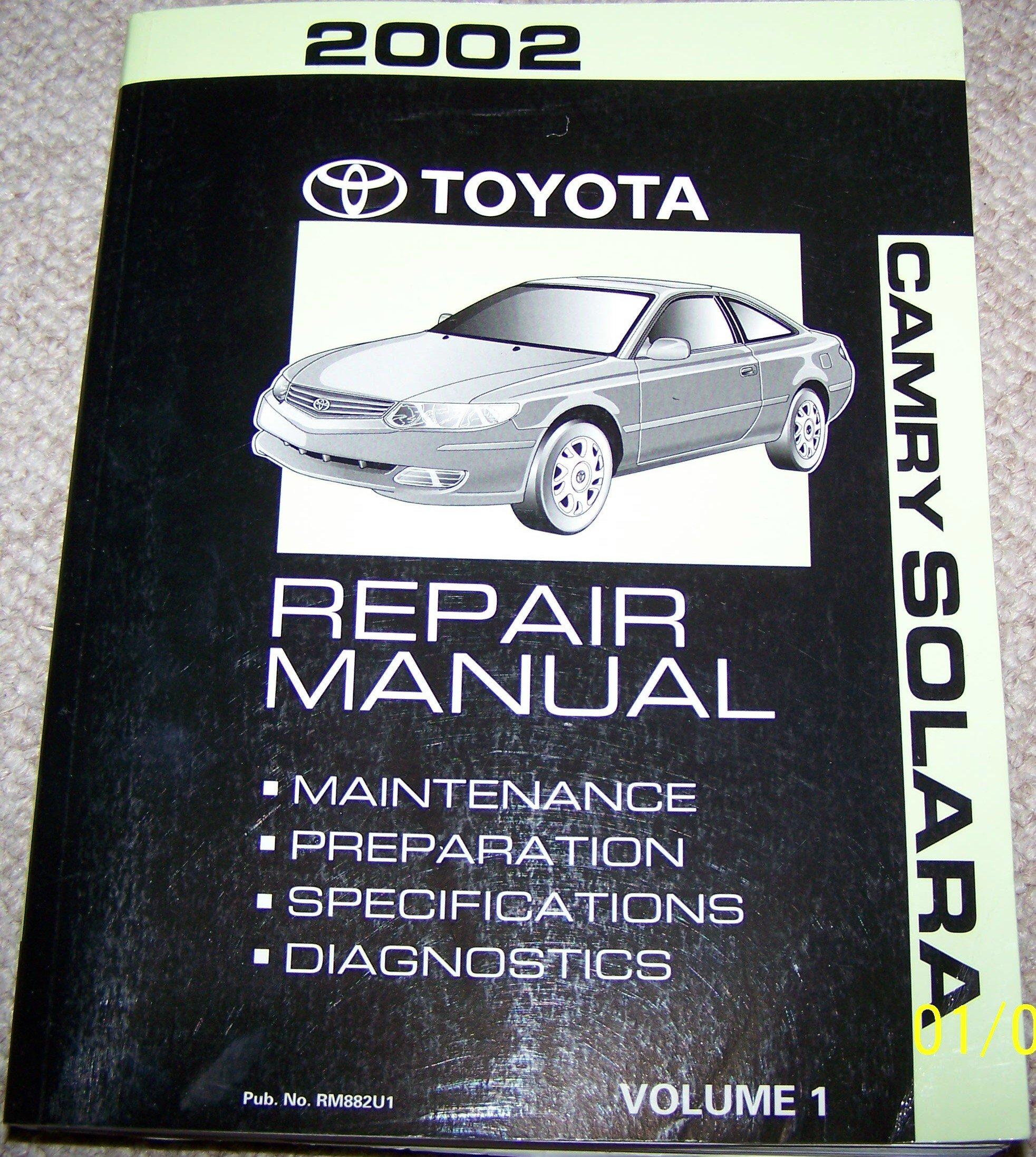 2002 Toyota Camry Solara Repair Manual (Volume 1): Toyota Motor Corp:  Amazon.com: Books