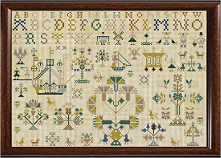 Antique 1822 Dutch Sampler Reproduction Cross Cross Stitch Counted Chart PDF on CD Unique Easy to Make Vintage English Embroidery Needlepoint European Netherlands Holland