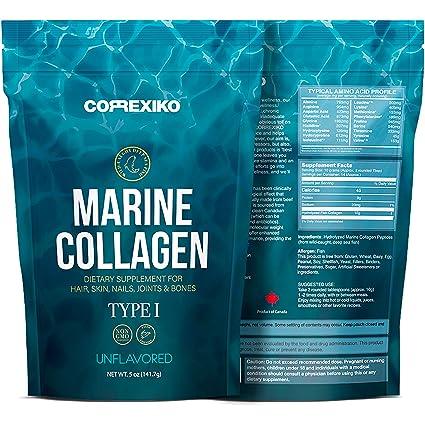 Péptidos Colágeno Marino de Peces Salvajes del Atlántico Norte (No de Acuicultura) – Proteína de Colágeno en Polvo para Articulaciones, Huesos, Piel, ...