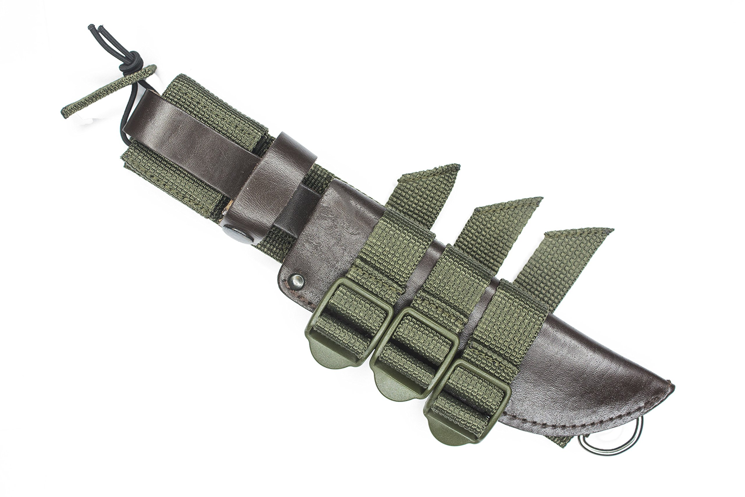 Tactical MOLLE Attachment Gear Adapter for Ka-Bar/Bowie/All-type fixed-blade Knife Sheaths Scabbard Belt Adapter/Knife Carrier/ Nylon Velcro