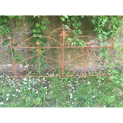 Beet Clôture Clôture de jardin Tuteur Métal Fer Rouille Décoration ...