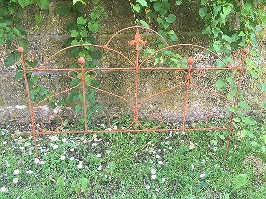 Valla Valla de jardín (pérgola metal hierro oxidado (55 cm de alto x 80 cm de largo: Amazon.es: Jardín