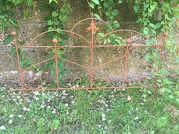 Beet Clôture Clôture de jardin Tuteur Métal Fer Rouille Décoration 55 cm de  haut x 80 cm de long