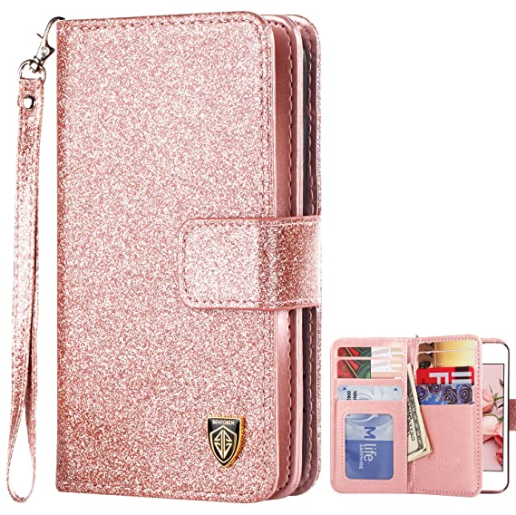 quality design 699d7 ac0ff iPhone 5S Case, iPhone SE Case, BENTOBEN Sparkle iPhone 5 Wallet Case  Glitter Credit Card Slots Cash Holder Luxury Shiny Bling Flip Faux Leather  ...