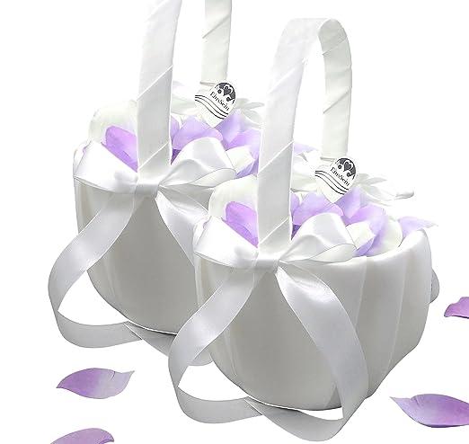 2 Streukorbchen Blumenkinder Weiss Blumenkorbchen Hochzeit Blumen Streuen