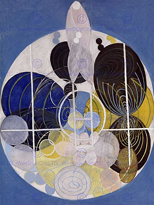 MODERN HILMA AF KLINT ABSTRACT Poster Picture Painting Canvas art Prints