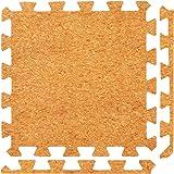 Materassi in gomma piuma ad incastro in sughero - Perfetto per la protezione del pavimento, Garage, Esercizio, Yoga, Sala giochi. schiuma EVA (9 piastrelle, Sughero)