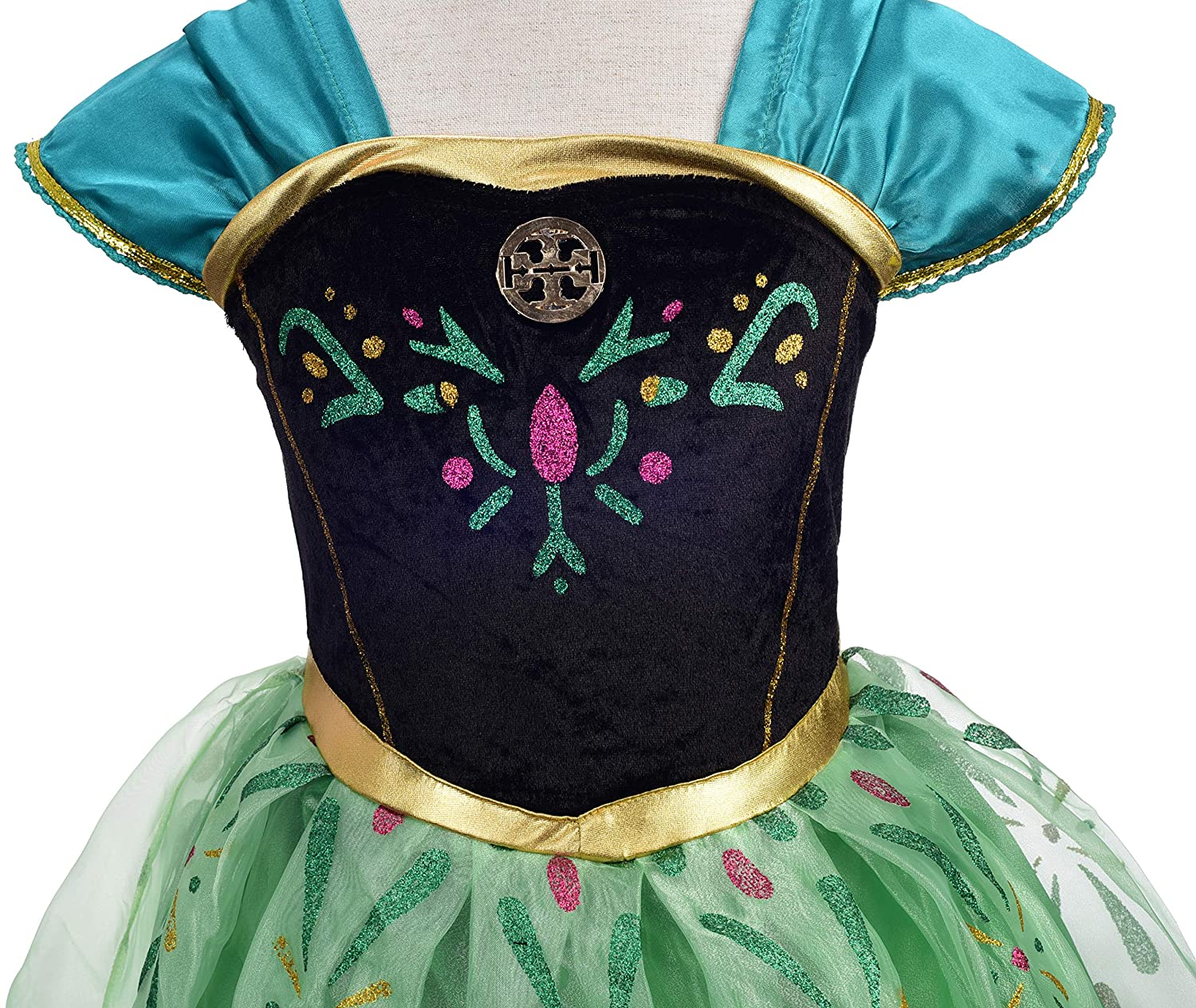 Dressy Daisy Girls Princess Anna Dress Up Costumes Halloween Party Outfit