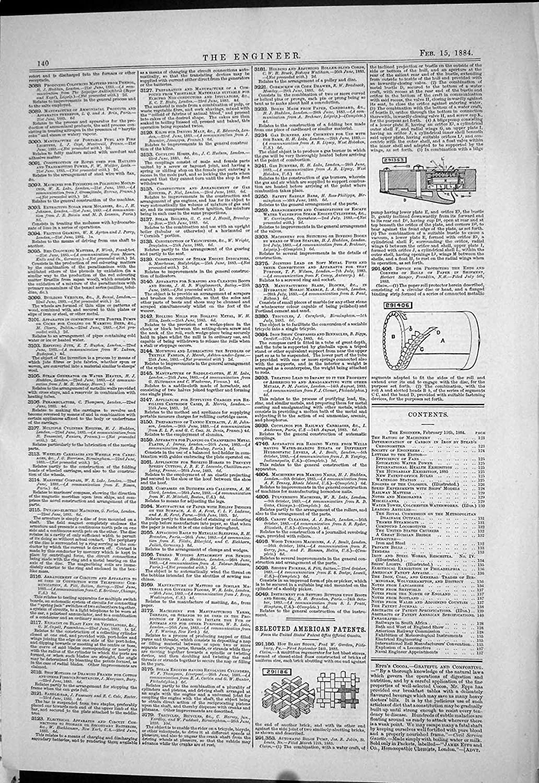 Impresión Antigua de la Estufa Caliente Fred Gordon Sanger Louis de Blas de las Patentes Americanas de la Ingeniería 1884: Amazon.es: Hogar