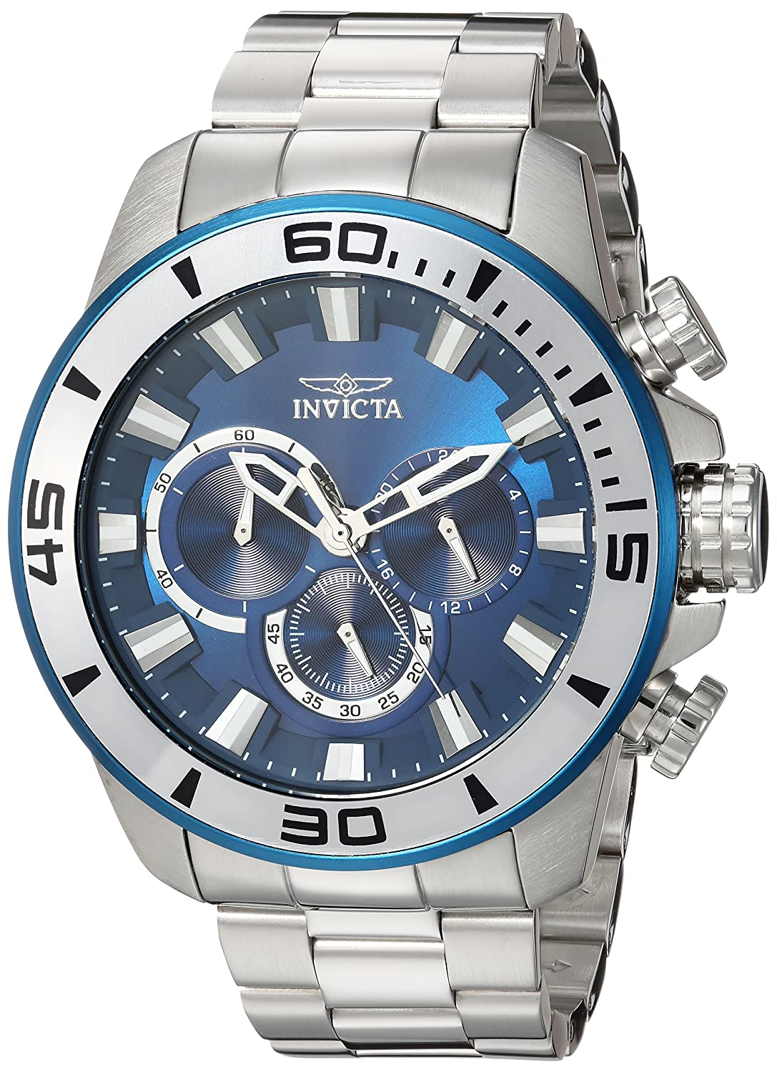 Amazon.com: Invicta Mens Pro Diver Quartz Stainless Steel Casual Watch, Color:Silver-Toned (Model: 22586): Invicta: Watches