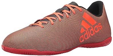 f9aeee6d6 adidas Men's X 17.4 in Soccer Shoe, Black Red/Solar Orange, ...