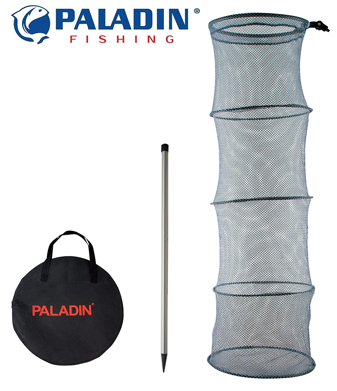 Paladin Setzkescher 200cm + Erdspiess, Kescher zum Fische hä ltern, Fischkescher, Angelkescher, Fischnetz