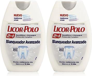 Licor del Polo - Dentífrico + Enjuague 2 en 1 - Blanqueador ...