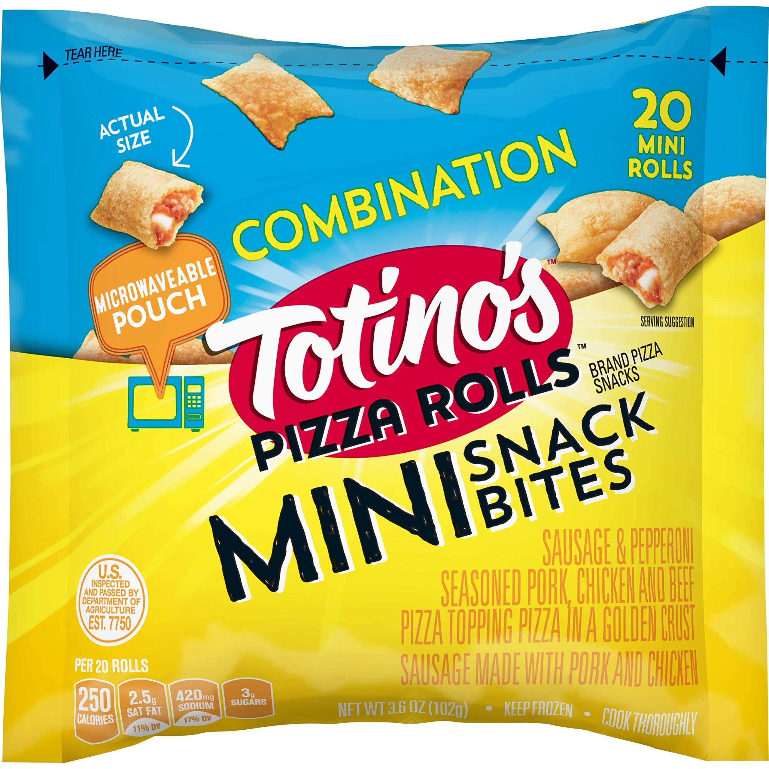 Totino's Pizza Rolls Mini, Combination, 20 Rolls, 3.6 oz Bag (frozen)
