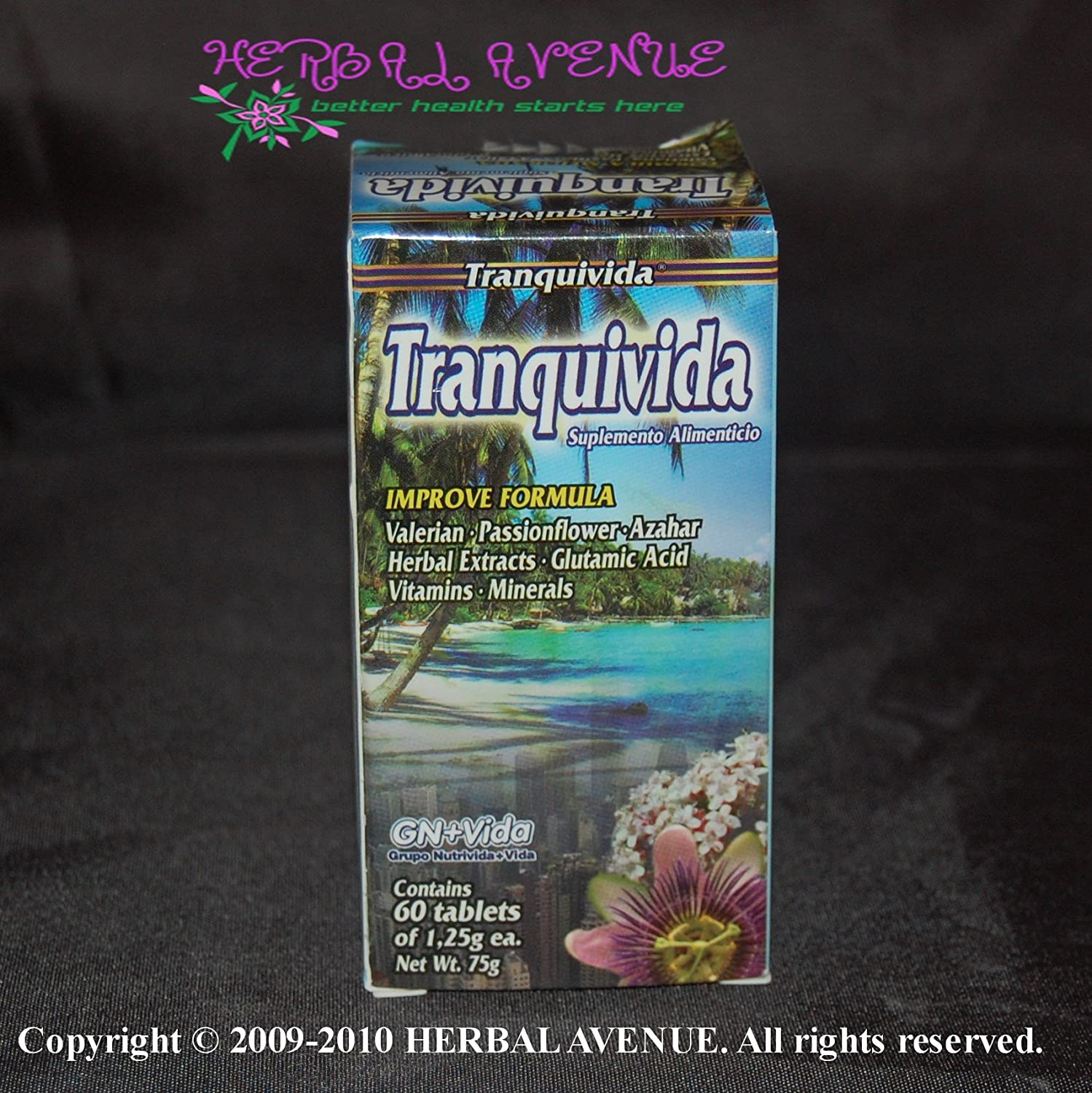 Amazon.com: 1 Frasco/Bottle - Tranquivida 60 Tabletas Valeriana - Tranquivida Valerian 60 Tablets: Health & Personal Care