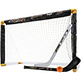Franklin Sports NHL Mini Hockey Sets - Knee Hockey Goal, Ball, & 2 Hockey Stick Combo Set - Mini Goal Net - NHL Official…