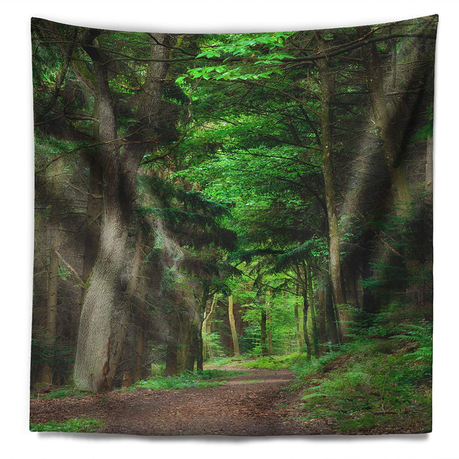 Created On Lightweight Polyester Fabric 78 in x 92 in Designart TAP11769-78-92  Dreamy Greenery in Dense Forest Blanket D/écor Art for Home and Office Wall Tapestry XX-Large