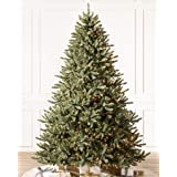 Balsam Hill - Amazon Exclusive - 7ft Premium Pre-Lit Artificial Christmas Tree Classic Blue Spruce with Clear LED Lights, Sto