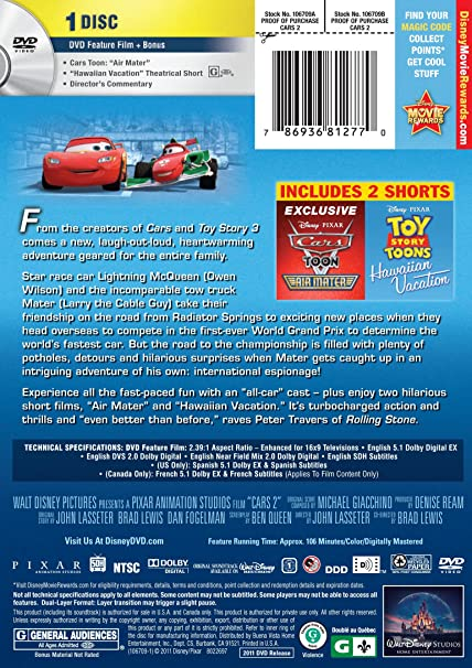 Amazon.com: Cars 2: Larry the Cable Guy, Owen Wilson ...