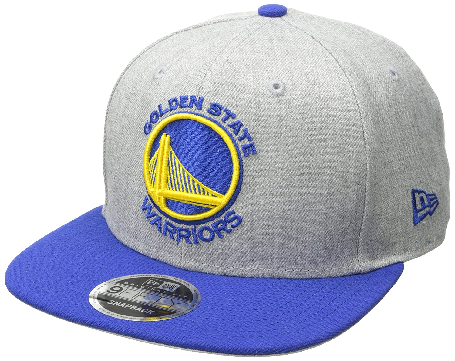 6fb8d6bc Amazon.com : NBA Golden State Warriors Heather Action 9Fifty Original Fit  Snapback Cap, One Size, Gray : Sports & Outdoors