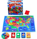 International Playthings Game Zone -  Great States Board Game - Learn Geography, Capitals, Trivia and Fun Facts About  the USA - Ages 7 and Up