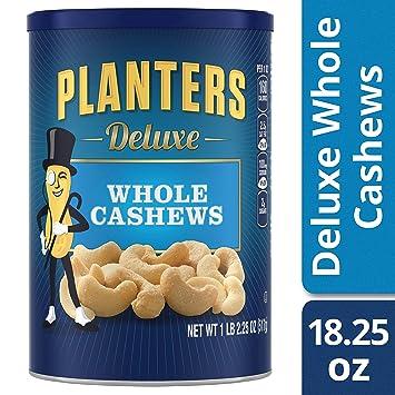 Amazon.com : Planters Deluxe Whole Cashew Nuts, 1 LB 2.25 OZ : Snack on chicken nuts, sugar free nuts, fish nuts, bulk nuts, chocolate nuts, garlic nuts, ice cream nuts,