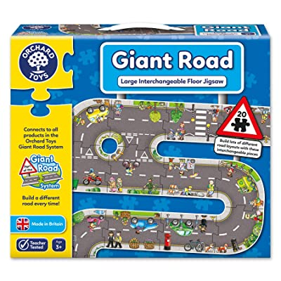 Orchard Toys Giant Road Jigsaw Floor Puzzle (20 Piece): Toys & Games