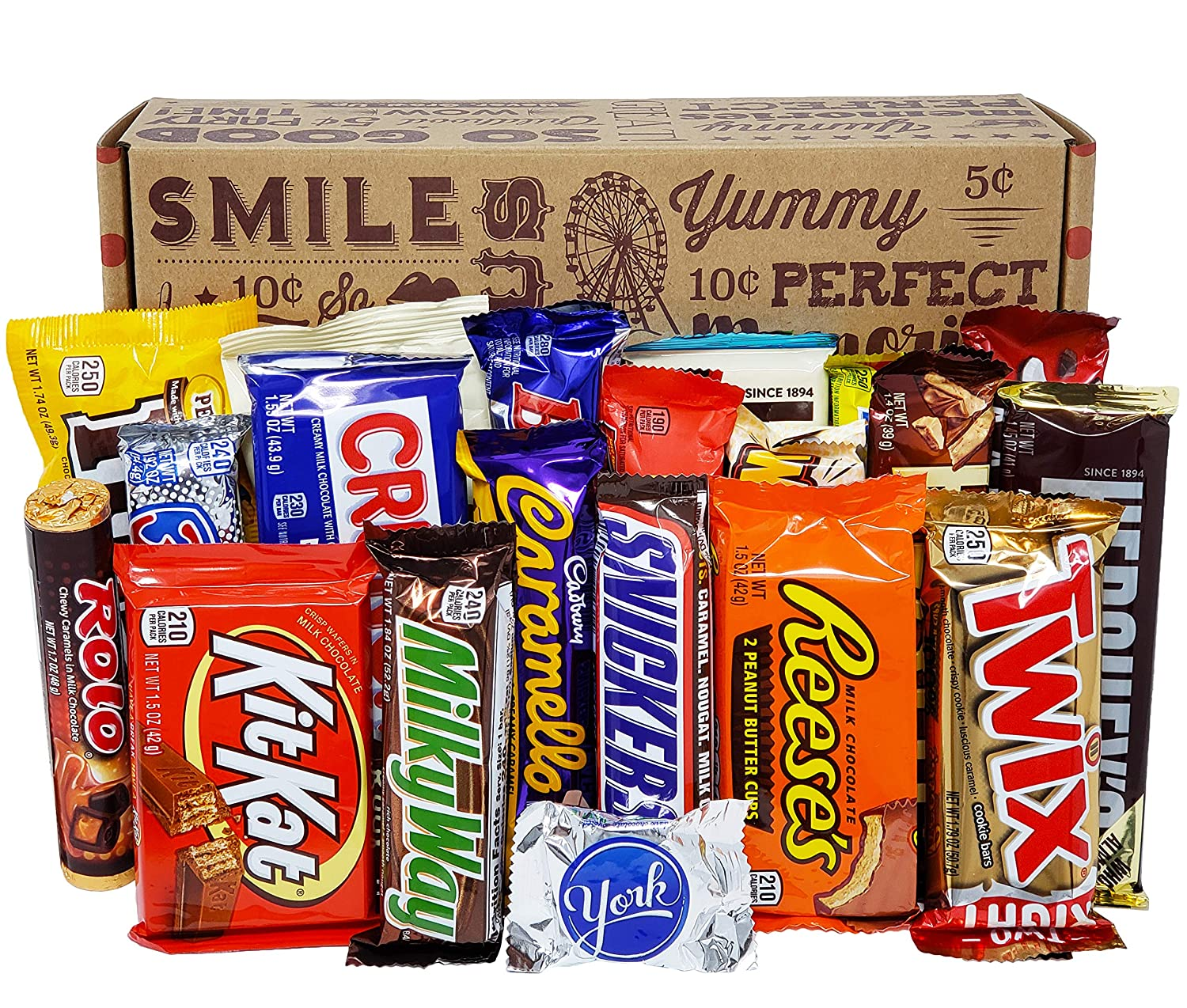 CANDY BAR SNACK GIFT BASKET