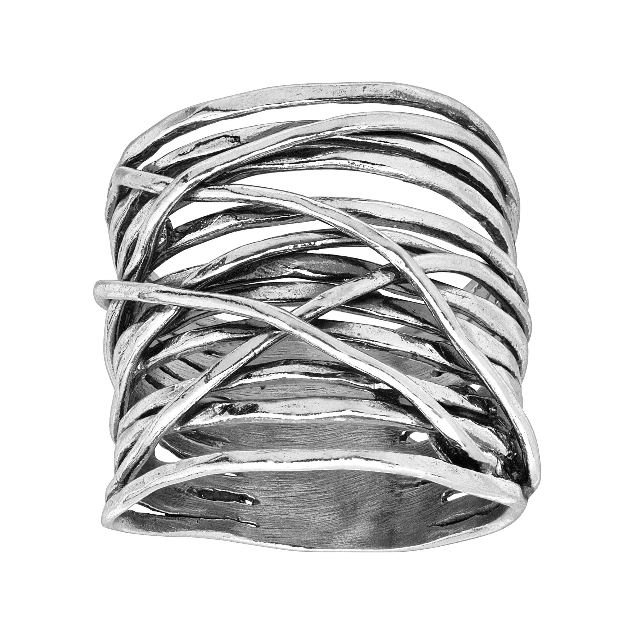 Silpada 'Sundried' Criss-Crossed Textured Sterling Silver Ring