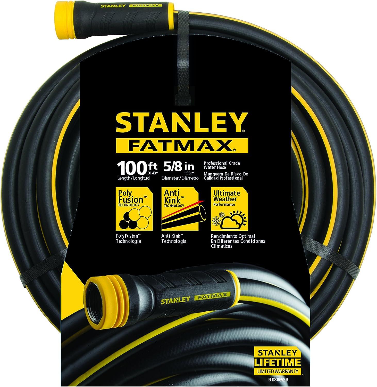 "Stanley FatMax Garden Hose, 100' x 5/8"", Black"