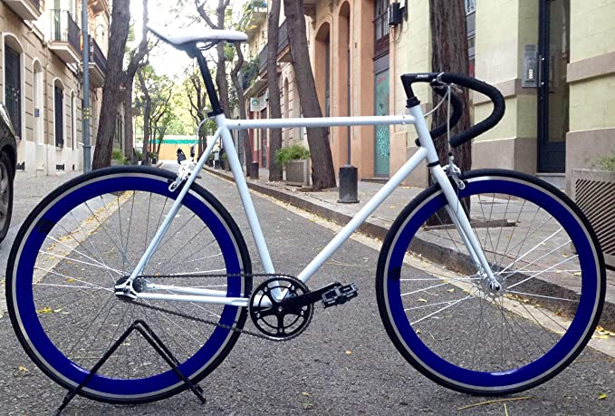 Mowheel Bicicleta Monomarcha Pista Fixie-B clásica T-58CM Azul: Amazon.es: Deportes y aire libre