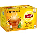Lipton Premium Black Tea K Cups, Natural Energy 12 ct (Pack of 6)