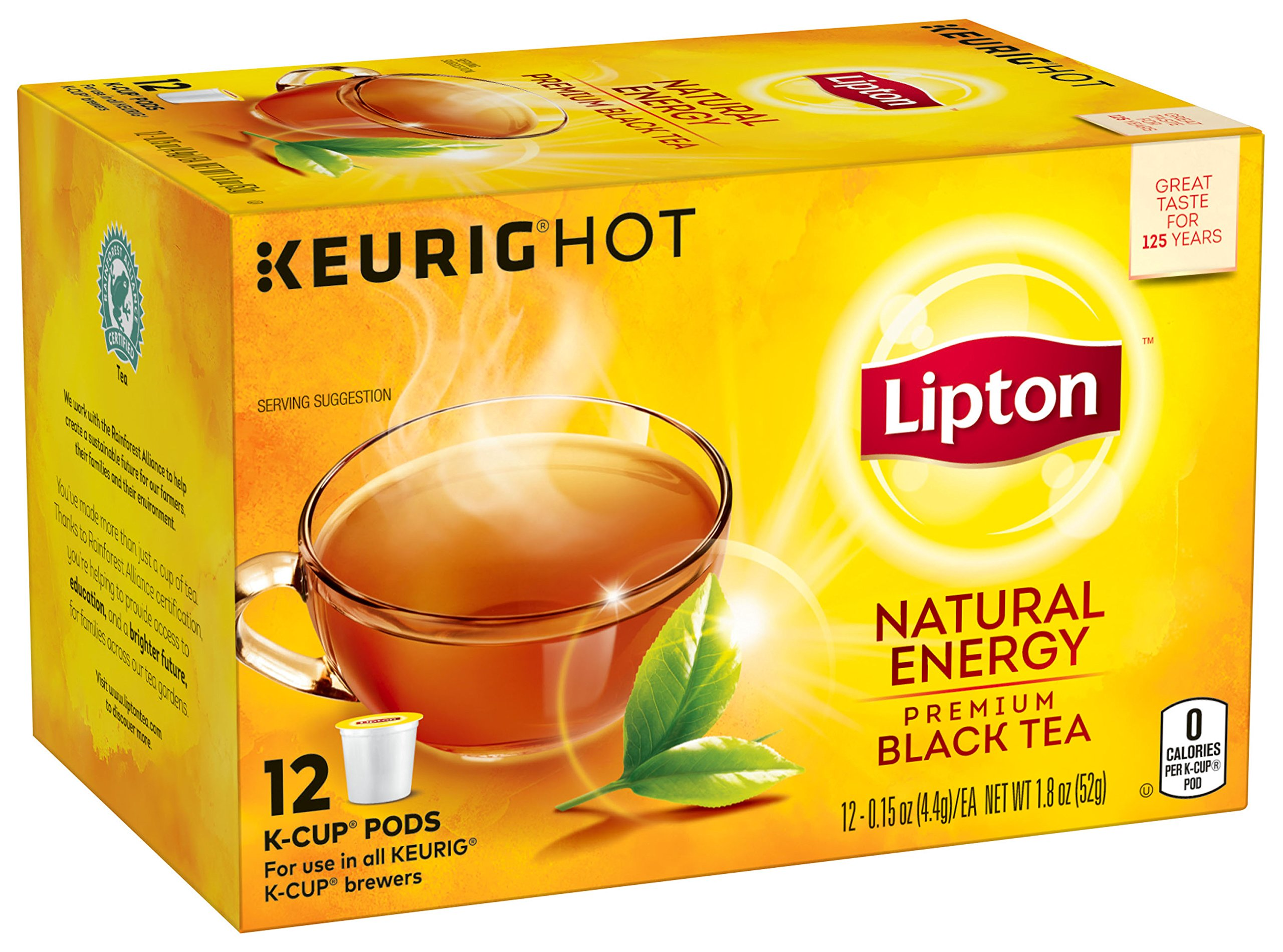 Lipton Natural Energy Premium Black Tea  Ct
