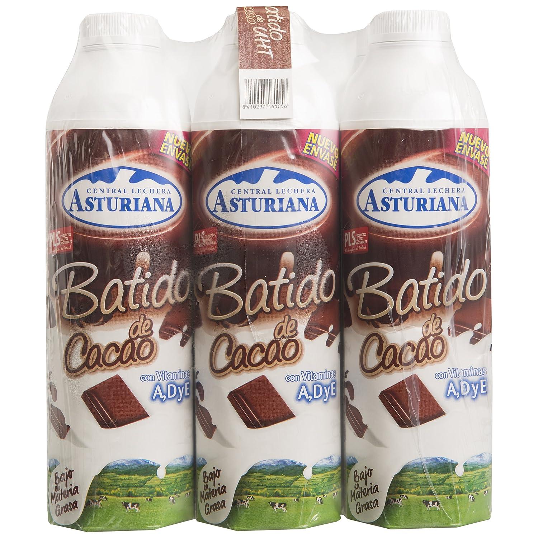 Central Lechera Asturiana Batido Cacao - Paquete de 6 x 1000 ml - Total: 6000 ml: Amazon.es: Alimentación y bebidas