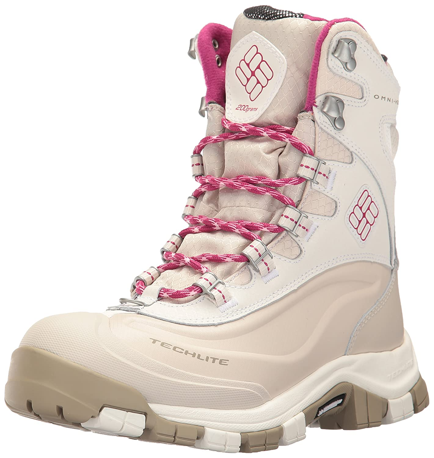 Columbia Women's Bugaboot Plus Omni-Heat Michelin Snow Boot B01MQXW2AM 10.5 B(M) US|Sea Salt, Deep Blush