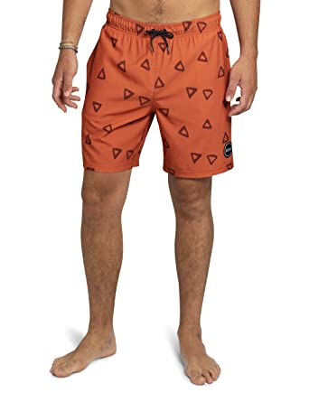 "c13e280604 Kove Nomad Swim Trunks Recylced Men's Quick Dry 4 Way Stretch 18""  Swimsuit Small Rust"