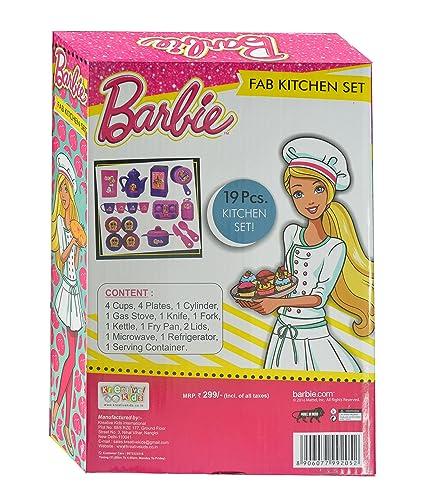 Buy Mattel Barbie Fab Kitchen Set Multi Color Online At Low Prices