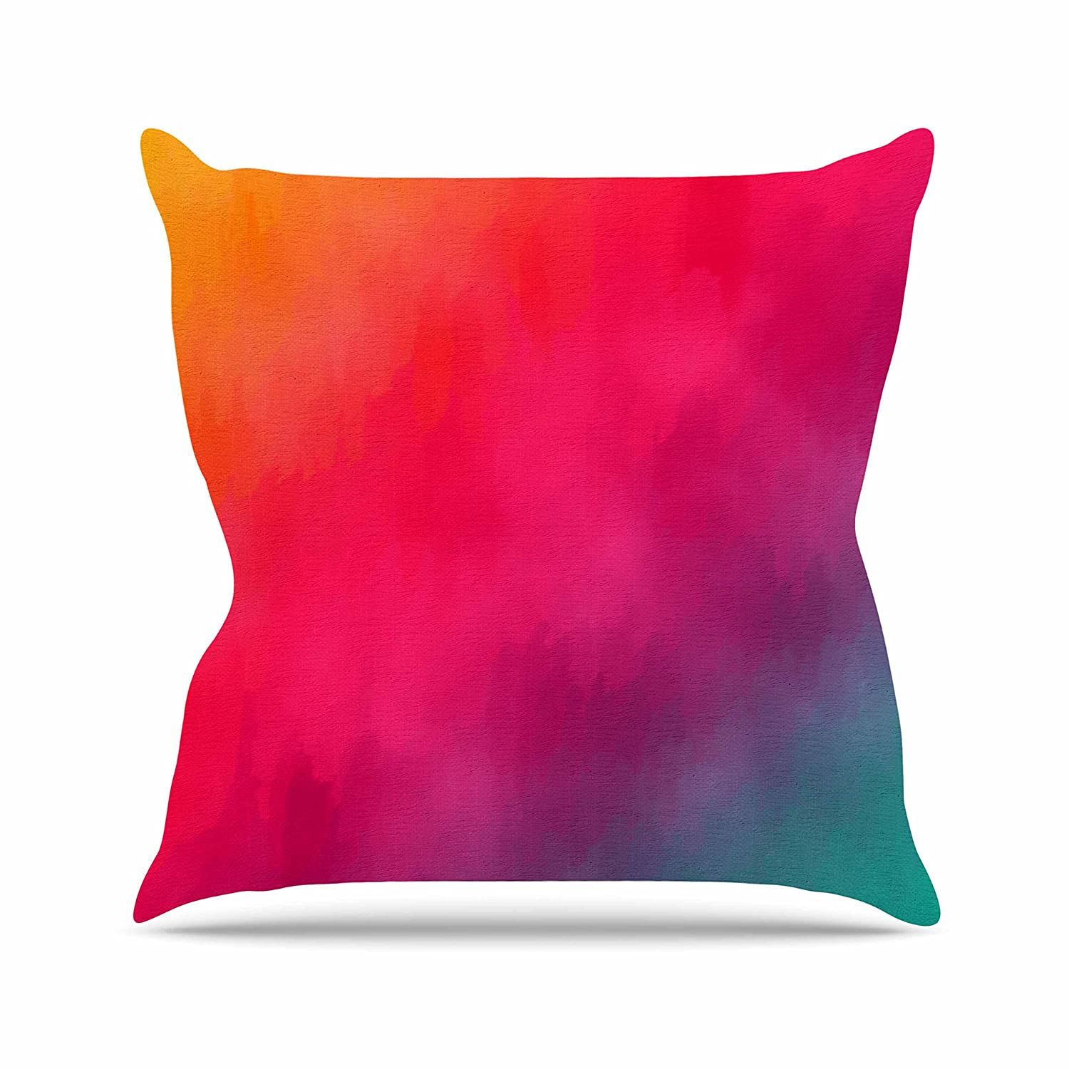 Kess InHouse Fotios Pavlopoulos Rainbow Loon Rainbow Abstract Throw Pillow 26 by 26