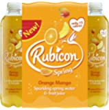 Rubicon Spring Orange Mango Flavoured Sparkling Spring Water, 12 x 500 ml