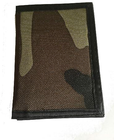 14x10 cm INVICTA portafoglio ragazzo con velcro CLIP WALLET STRAPS blu con foglie mis